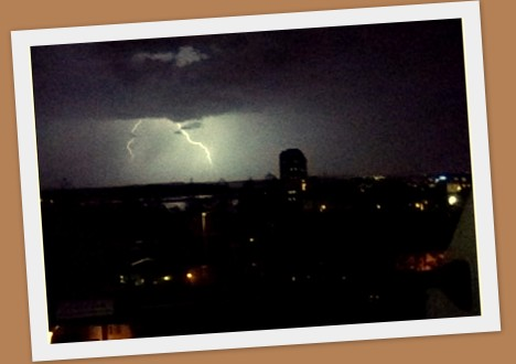 Lightning! (frame grab from a video)
